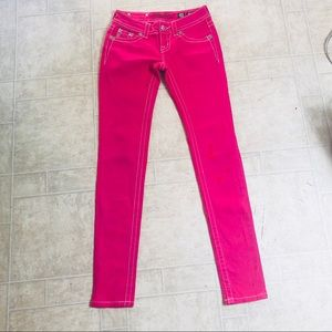 MISS ME Bright Pink Skinny Jeans - 24